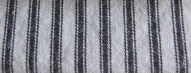 Covington Woven Ticking Black