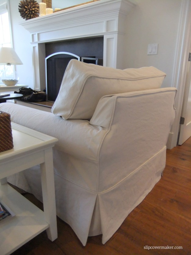 AFTER: natural denim chair slipcover