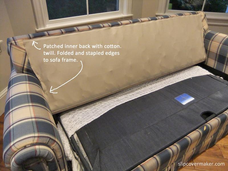 Sleeper Sofa Slipcover In Ticking, How To Cover A Sleeper Sofa