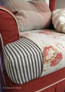 Floral cushion sleeve by The Slipcover Maker