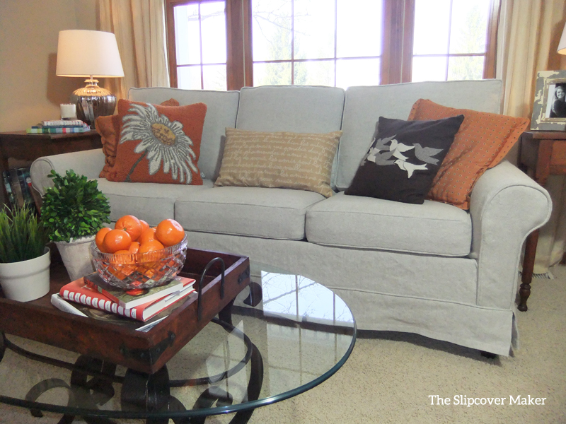 Linen Sofa Slipcover by Karen Powell