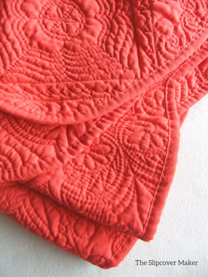 Orange Quilted Coverlet from SteinMart