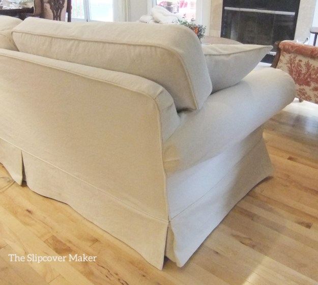 Custom Slipcover Natural Denim