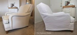 White Carr Go Canvas Chair Slipcover