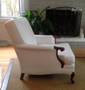Exposed Wood Chair Slipcover