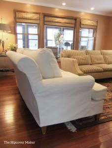 Denim Slipcover with Tailored Fit