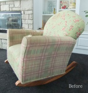 Rocker Before Natural Denim Slipcover
