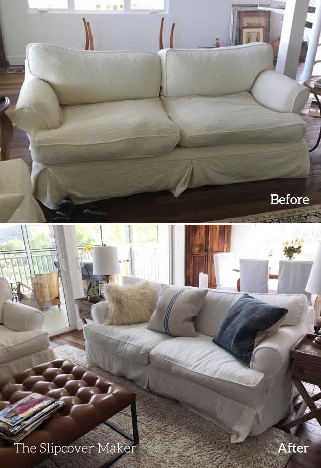 Linen Slipcover Copy for Quatrine Sofa