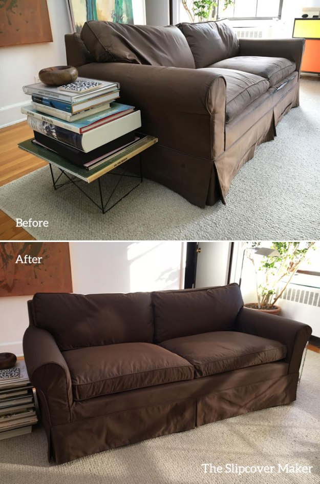 Sofa Slipcover Replacement in Silk