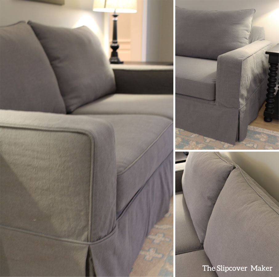 Cotton-Poly Canvas Slipcover for Pottery Barn Sofa