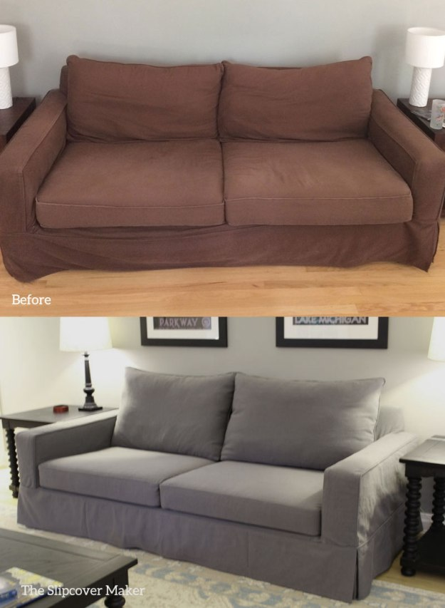 Charcoal Slipcover for Pottery Barn Sofa