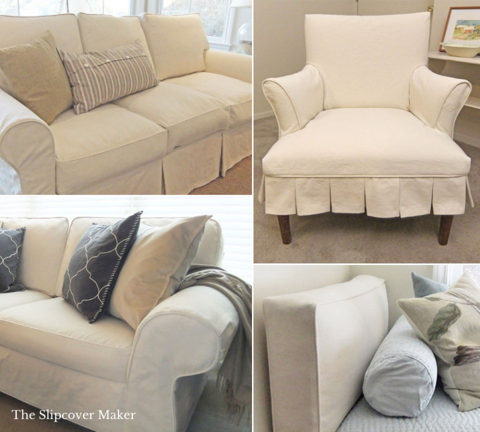 Custom Slipcover Natural Denim