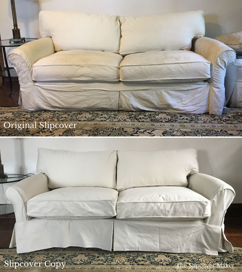 Slipcover Replacement: Can your old sofa or chair cover be copied?