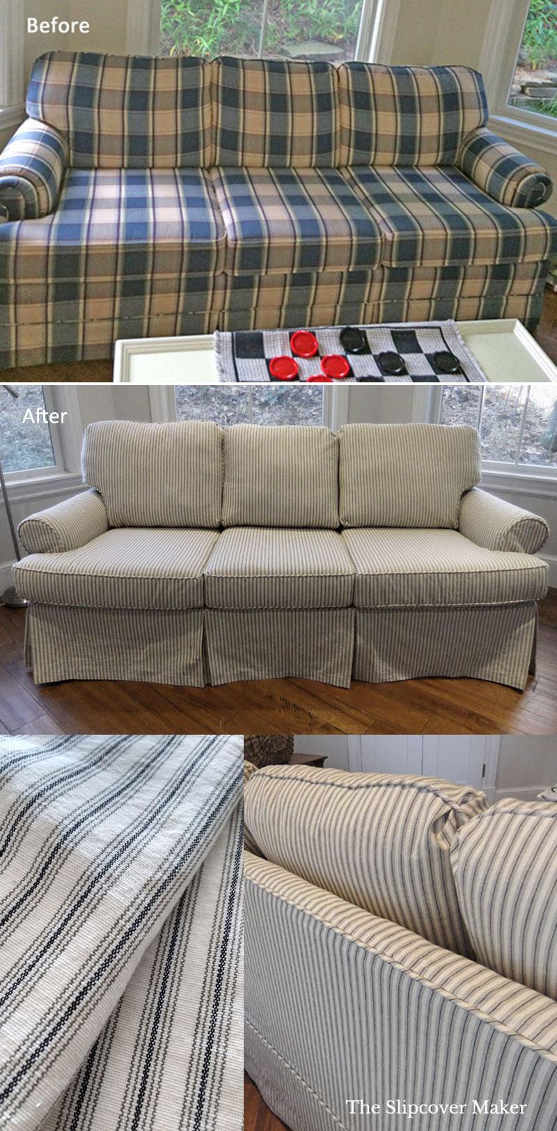 Sleeper Sofa Slipcover Ticking