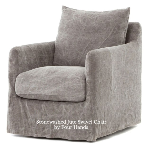 Banks Swivel Chair Stonewashed Jute