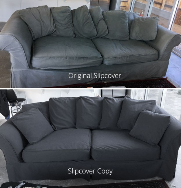 Grey Denim Sofa Slipcover Replacment