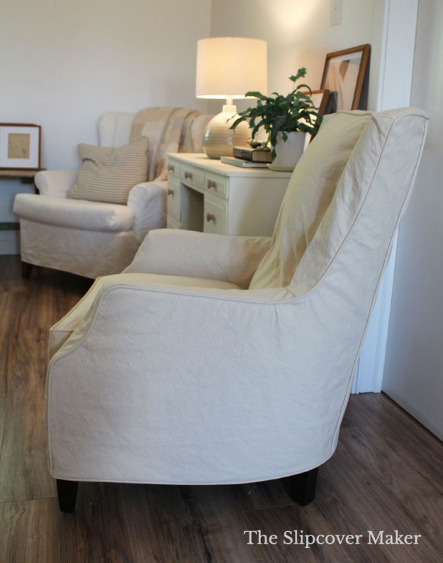 Natural Canvas Slipcover for Arhaus Armchair