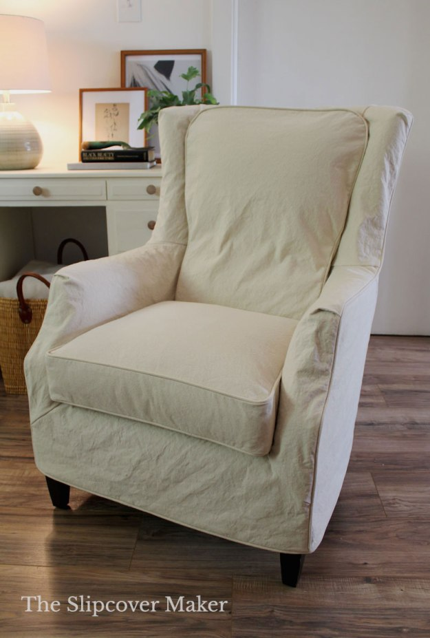 Natural Canvas Slipcover for Arhaus Chair