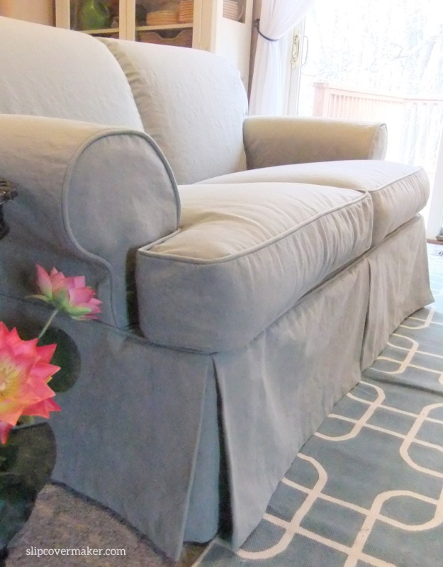 Cotton Poly Canvas Loveseat Slipcover