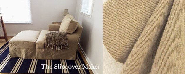 The Slipcover Maker Topsider Camel Denim