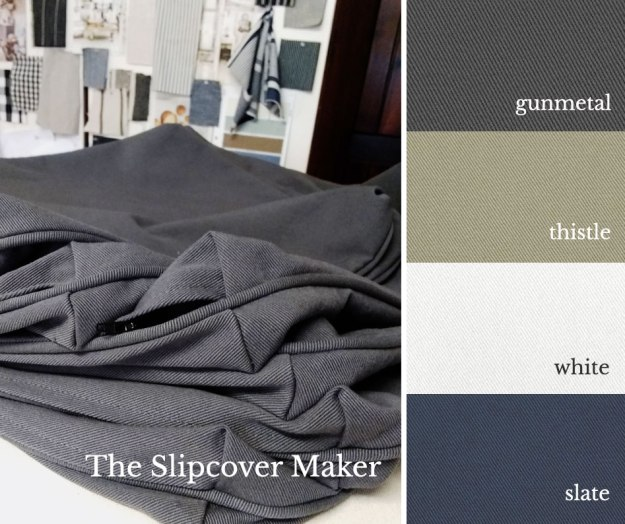 The Slipcover Maker Topsider Denim Colors