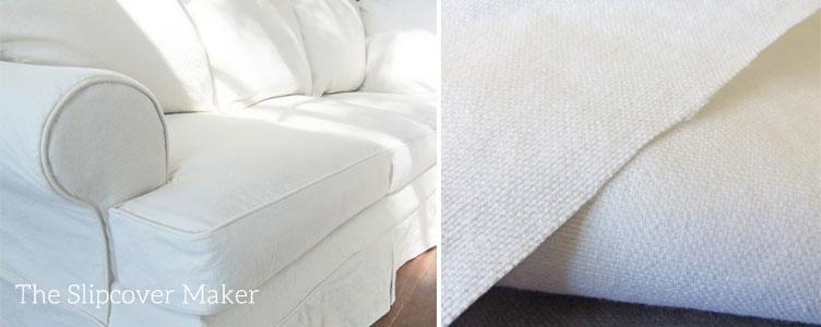 White Cotton Duck Sofa Slipcover