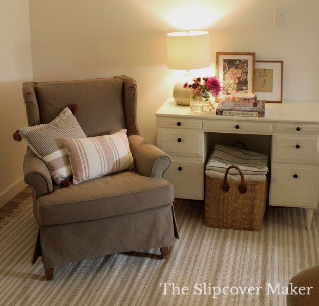 Brown Denim Slipcover