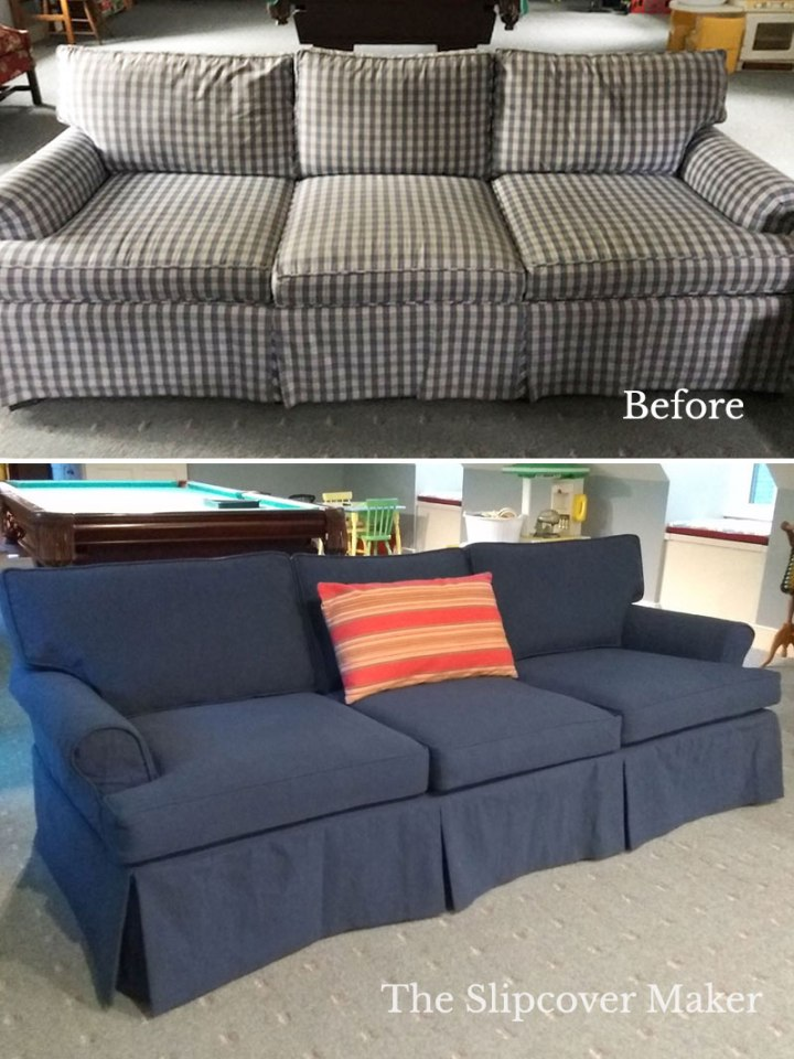 The Slipcover Maker Cotton Poly Sofa Cover