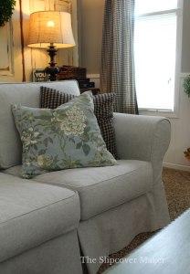 Custom Fit Grey Sofa Slipcover