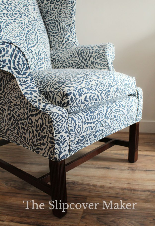 Fitted Slipcover with Welt Cord Hem