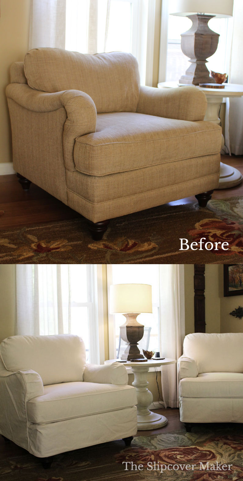 English Rolled Arm Chair Slipcover