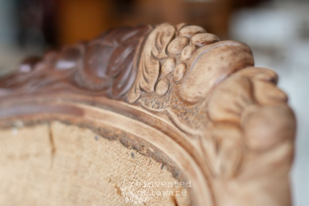 Sanded Wood Detail on Old Chair