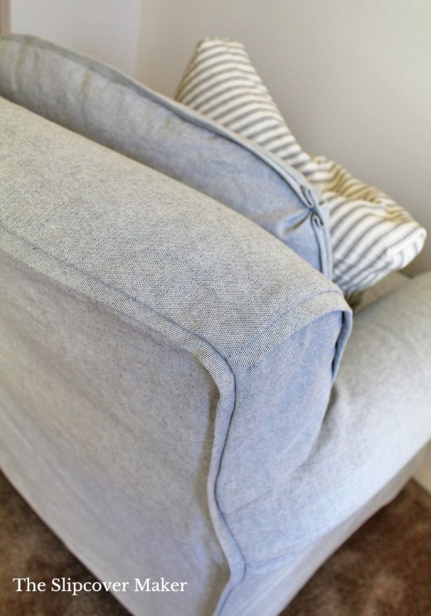 Yarn Dye Canvas Slipcover with French Welt