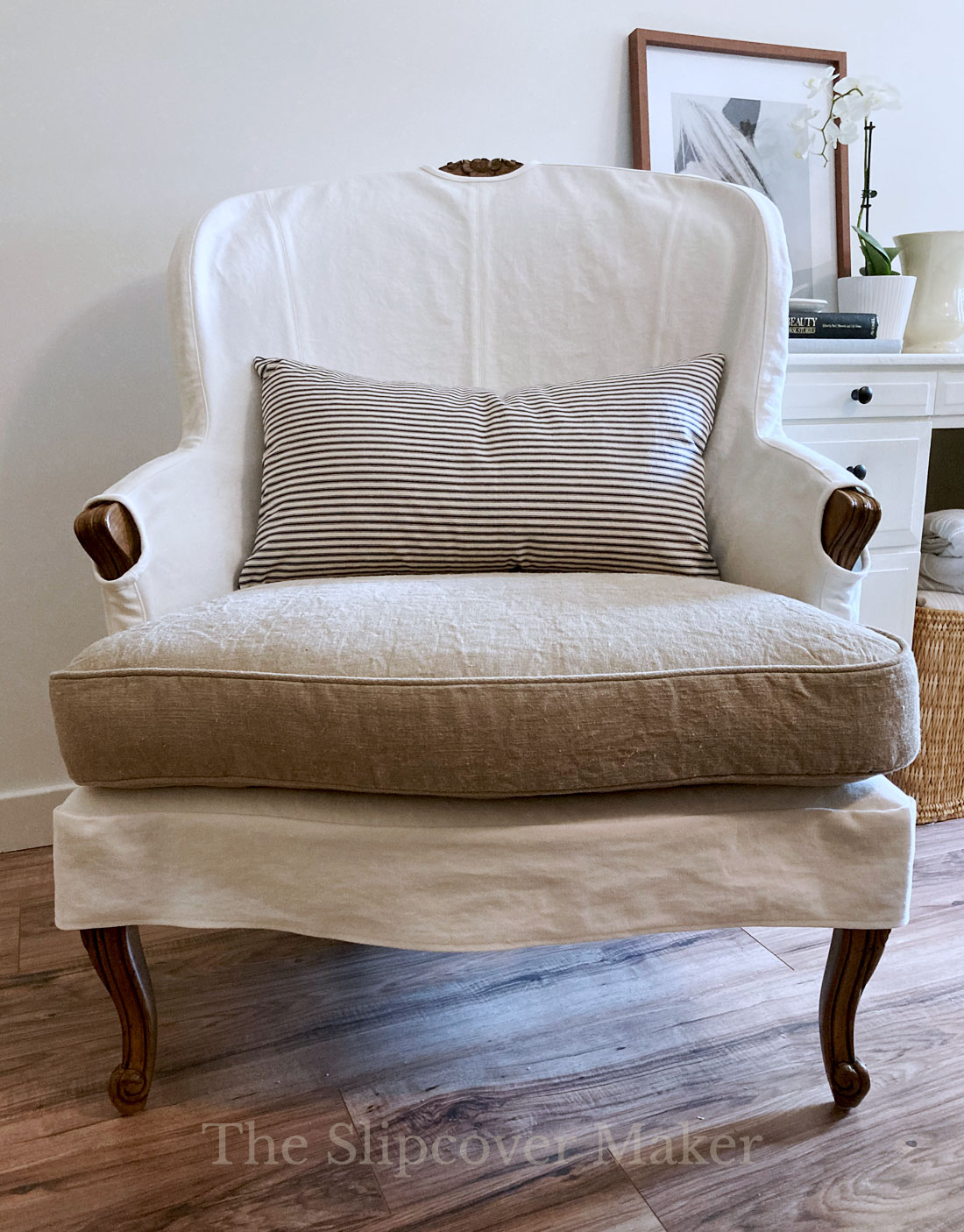 Custom-Fit Slipcover for Bergere Chair