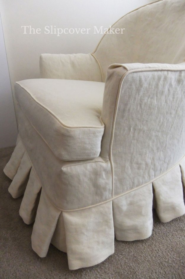 Hemp Canvas Chair Slipcover Dart Detail