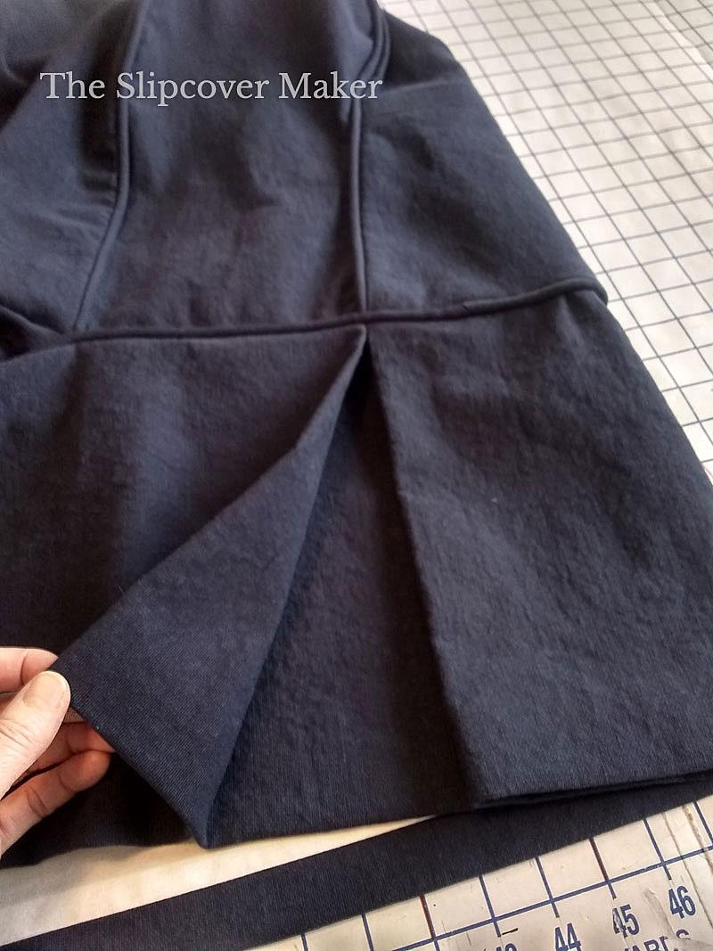 Tailored Slipcover Skirt Detail