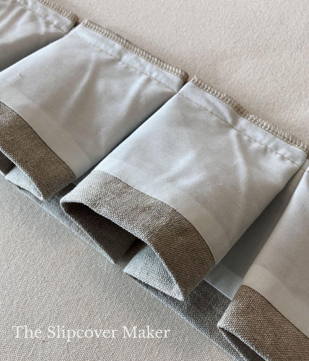 Box Pleat Skirt on Hemp Slipcover