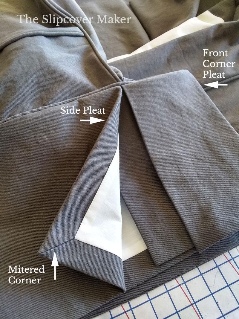 Slipcover Skirt Mitered Corner Detail