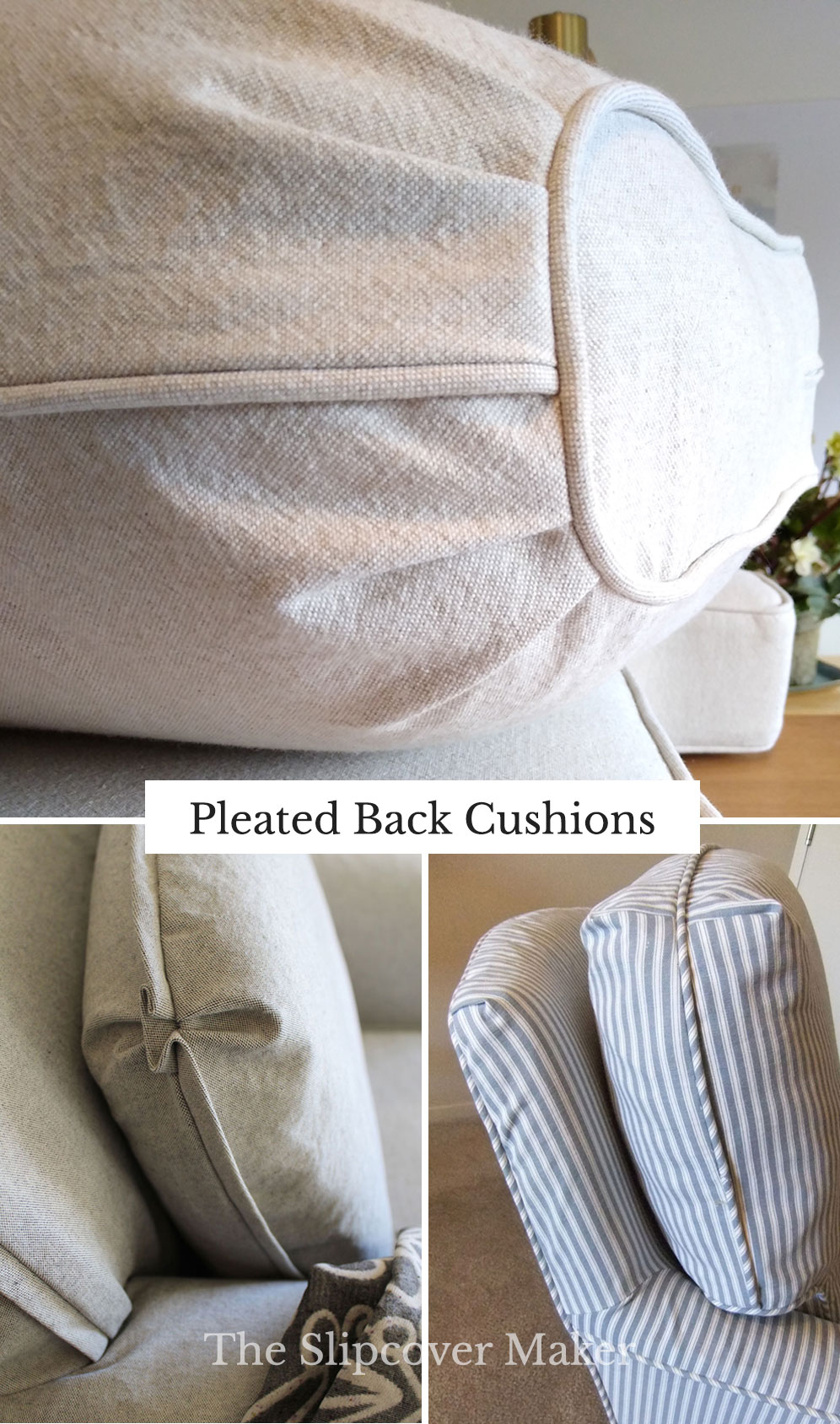 Pleated Back Cushion Slipcover Designs