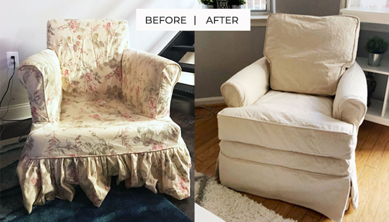 Natural Duck Armchair Slipcover Replacement