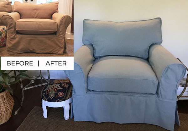 Cotton-Poly Canvas Slipcover Replacement