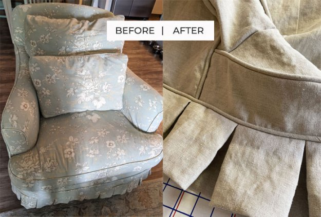 Hemp Canvas Chair Slipcover Replacement
