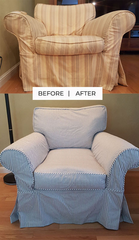 Ticking Stripe Slipcover Replacement