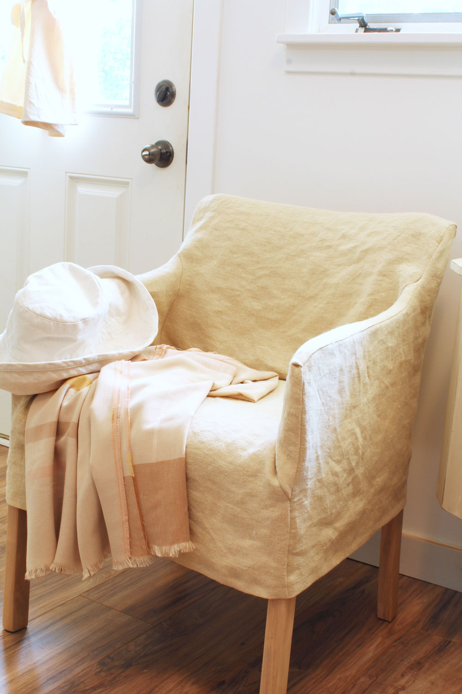 Hemp Slipcover Transforms Vintage Office Chair