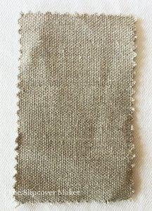 Linen fabric swatch burlap color.