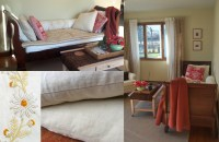 Slipcover Makeover Turns Sleigh Bed into a Sofa