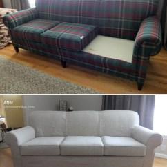 Linen Sofa Slipcover Ashley Furniture Darcy Sleeper Gray Line For Old Sherrill The Maker By Slipcovermaker