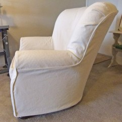 Roll Arm Chair Slipcovers Floral Upholstered The Slipcover Maker Natural Denim Side By Karen Powell