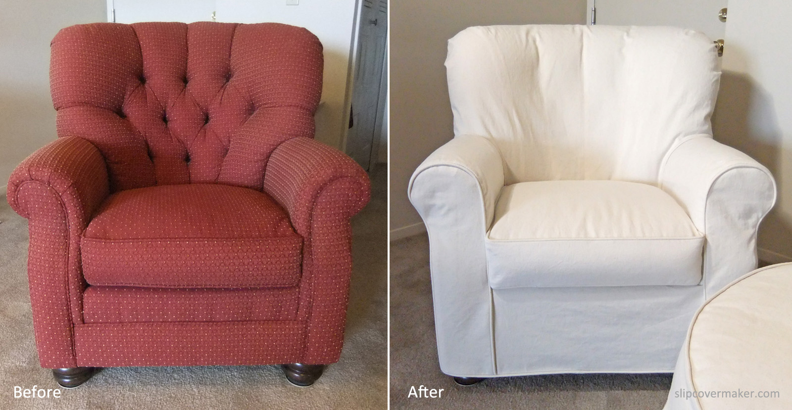roll arm chair slipcovers rocking on sale the slipcover maker natural denim by karen powell