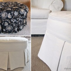 Chair Slip Covers Cotton Office Ottoman Slipcover: From Tufted To Tailored | The Slipcover Maker